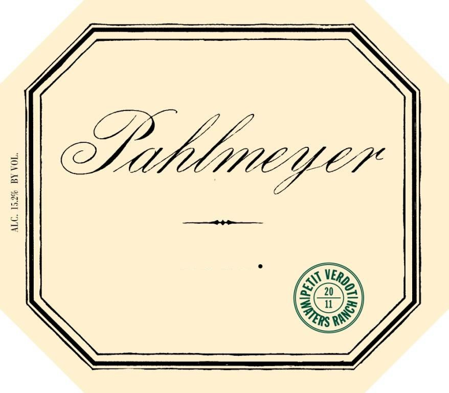 Pahlmeyer Waters Ranch Vineyard Petit Verdot 2012 Front Label