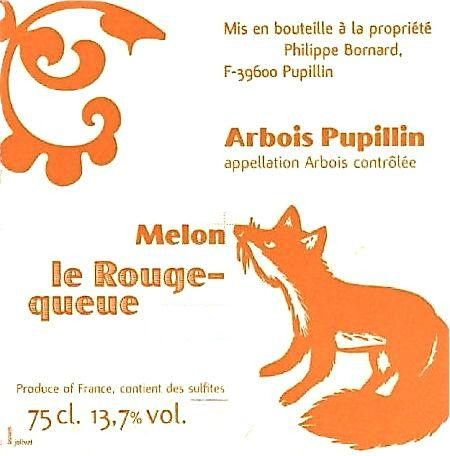 Annie et Philippe Bornard Arbois Pupillin Melon Le Rouge Queue 2006 Front Label