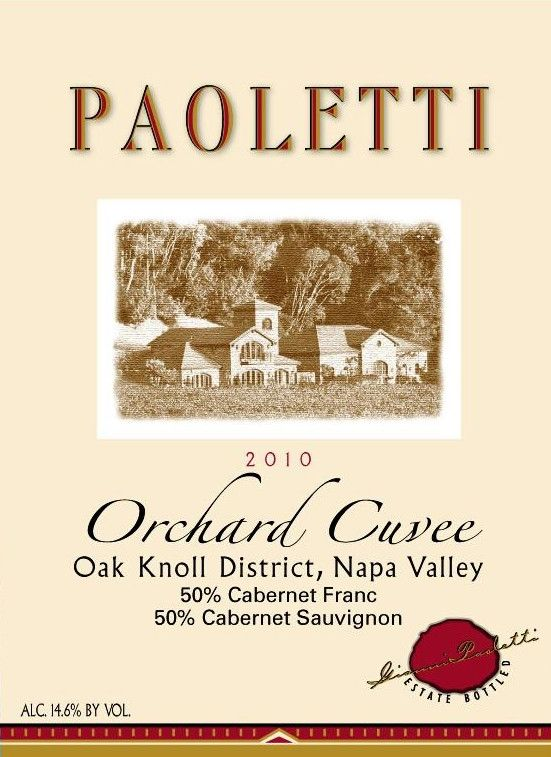Paoletti Orchard Cuvee Red 2010 Front Label