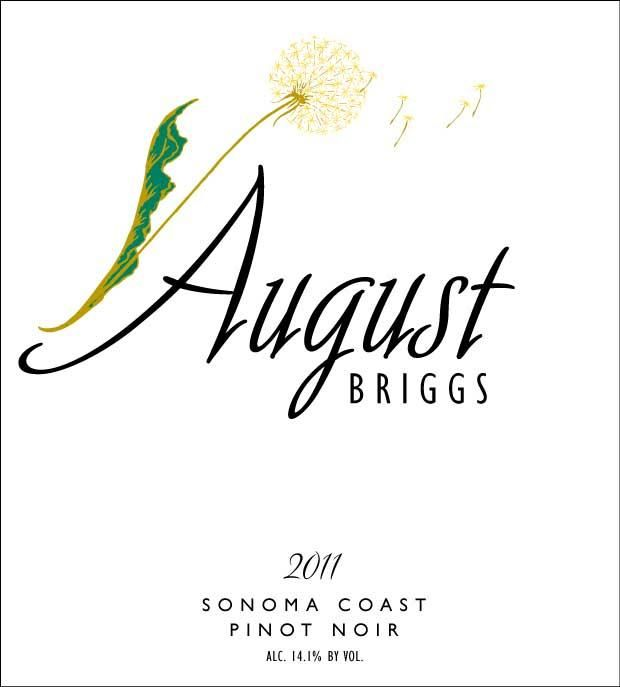 August Briggs Pinot Noir 2011 Front Label