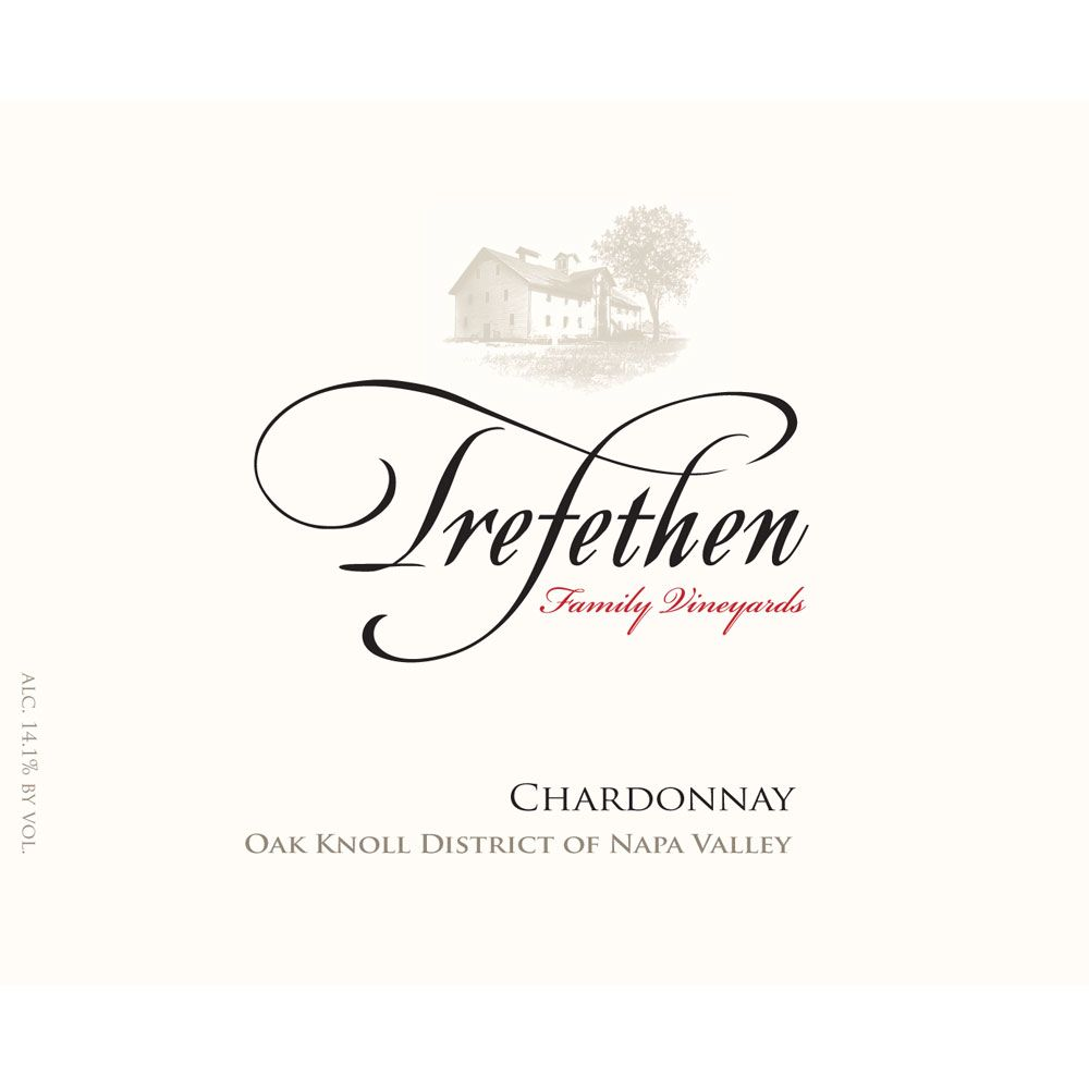 Trefethen Estate Chardonnay (375ML half-bottle) 2015 Front Label