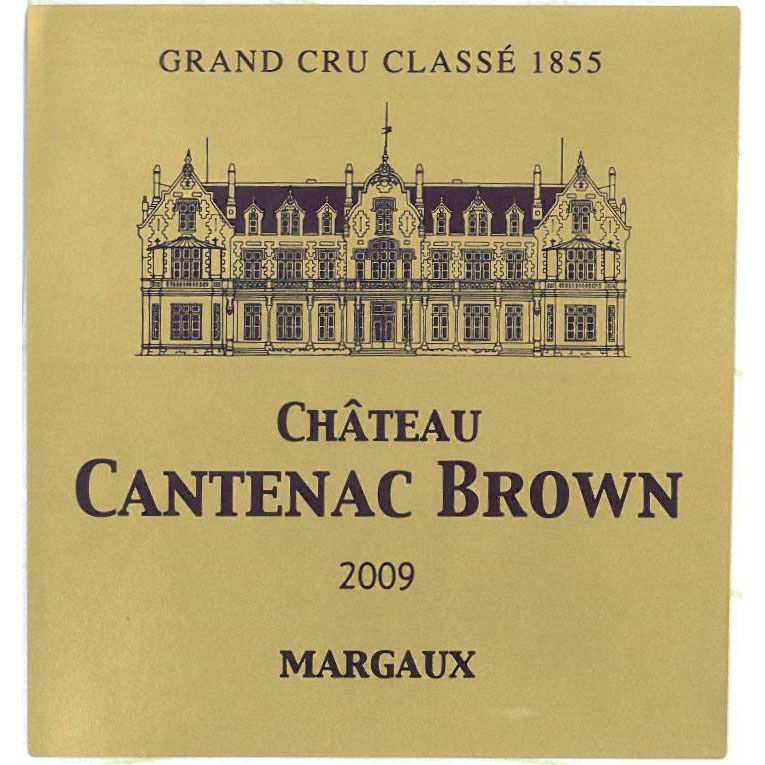 Chateau Cantenac Brown  2009 Front Label