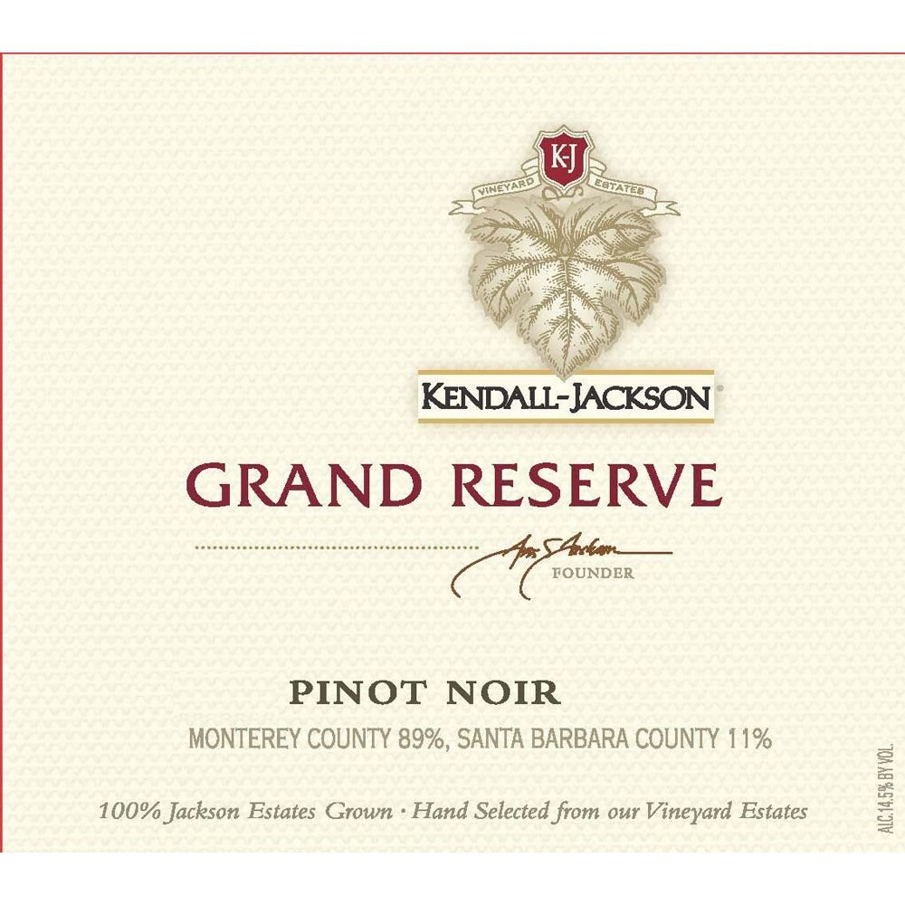 Kendall-Jackson Grand Reserve Pinot Noir 2014 Front Label