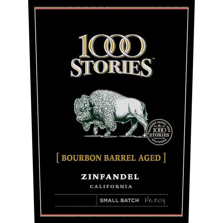 1000 Stories Bourbon Barrel Aged Zinfandel 2015 Front Label