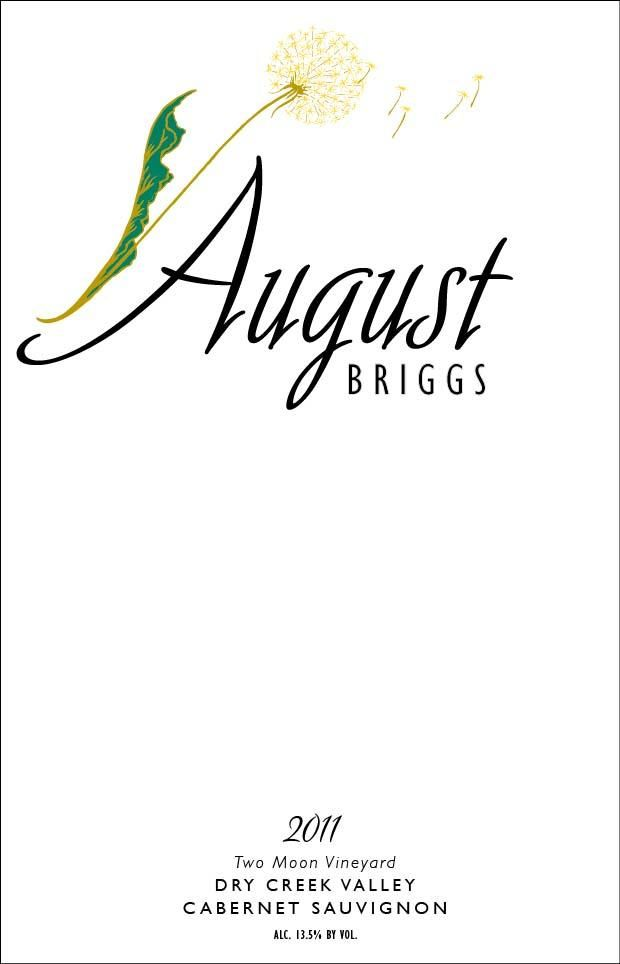 August Briggs Two Moon Vineyard Cabernet Sauvignon 2011 Front Label