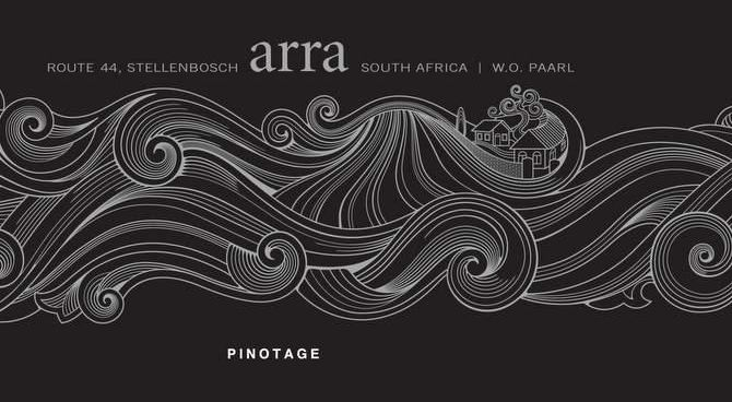 Arra Vineyards Pinotage 2010 Front Label