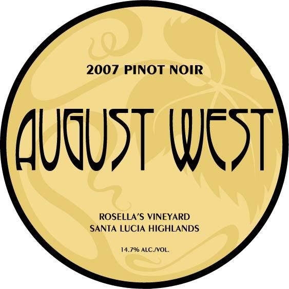 August West Rosella's Vineyard Pinot Noir 2007 Front Label