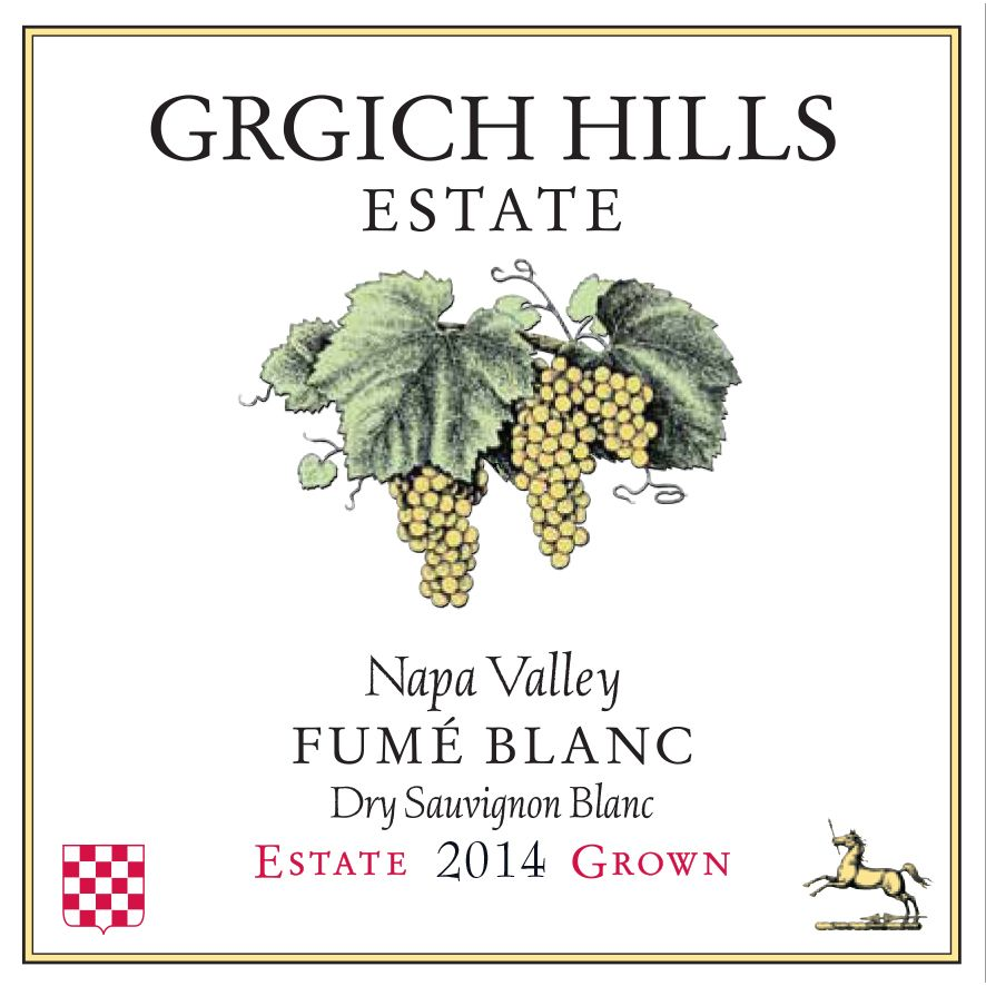 Grgich Hills Estate Fume Blanc (375ML half-bottle) 2014 Front Label