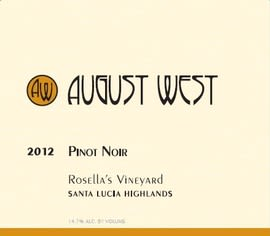 August West Rosella's Vineyard Pinot Noir 2012 Front Label