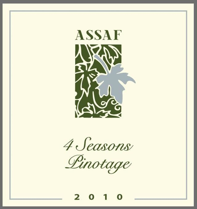 Assaf Winery 4 Seasons Pinotage 2010 Front Label
