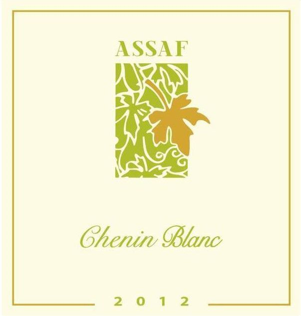 Assaf Winery Chenin Blanc 2012 Front Label