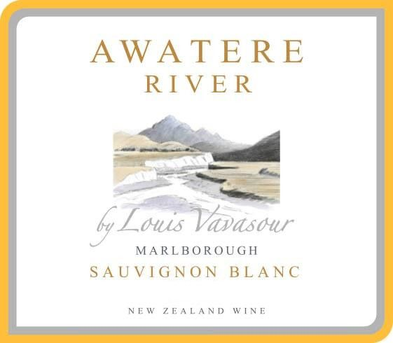 Awatere River Wine Company Marlborough Louis Vavasour 2015 Front Label