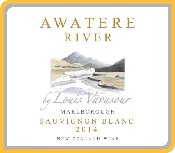 Awatere River Wine Company Marlborough Louis Vavasour 2014 Front Label