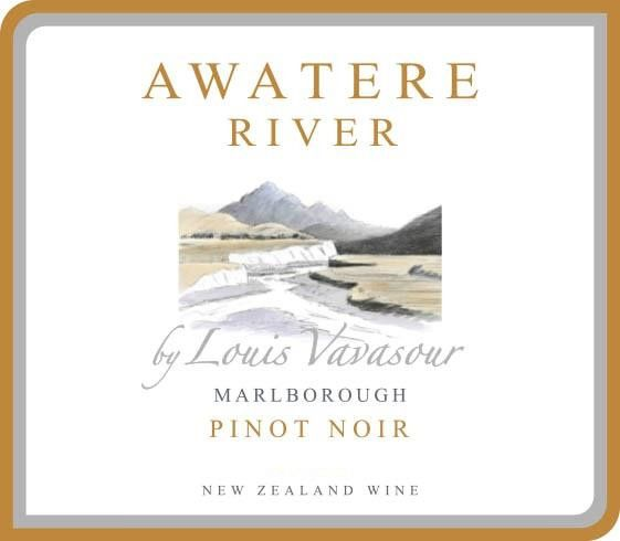 Awatere River Wine Company  Marlborough Pinot Noir 2015 Front Label
