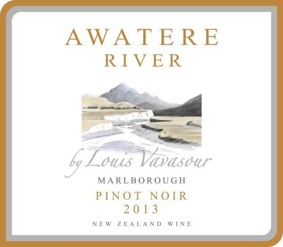 Awatere River Wine Company  Marlborough Pinot Noir 2013 Front Label