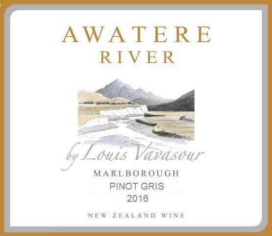 Awatere River Wine Company Pinot Gris 2016 Front Label