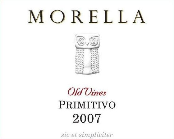 Az. Ag. Morella Old Vines Primitivo 2007 Front Label