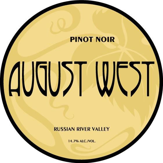 August West Russian River Valley Pinot Noir 2013 Front Label