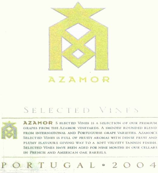 Azamor Selected Vines Red Blend 2004 Front Label