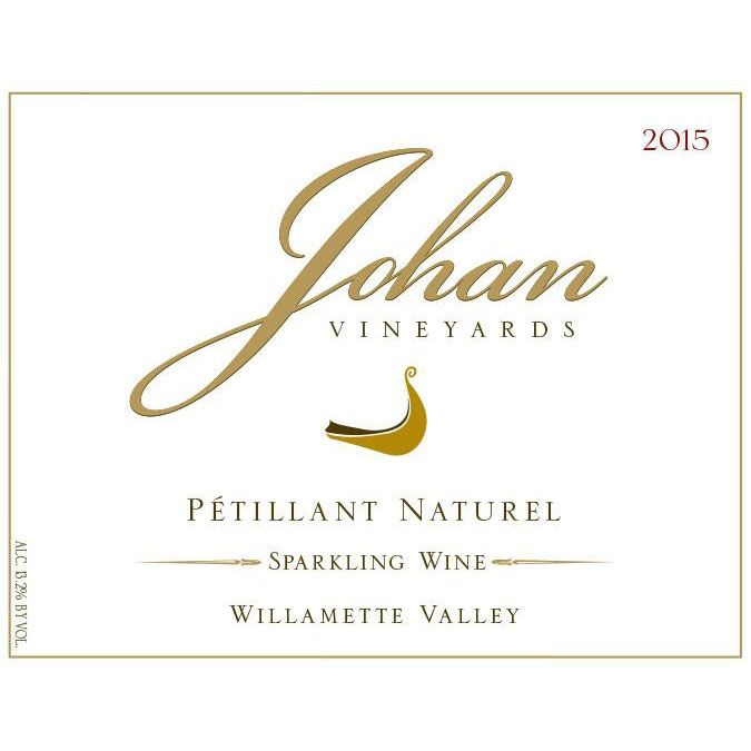 Johan Vineyards Estate Petillant Naturel 2015 Front Label
