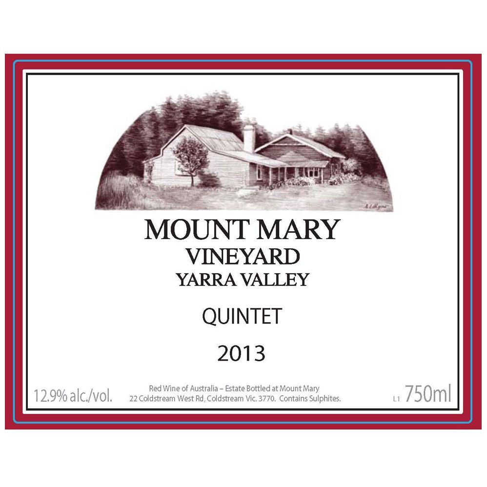 Mount Mary Vineyards Quintet 2013 Front Label