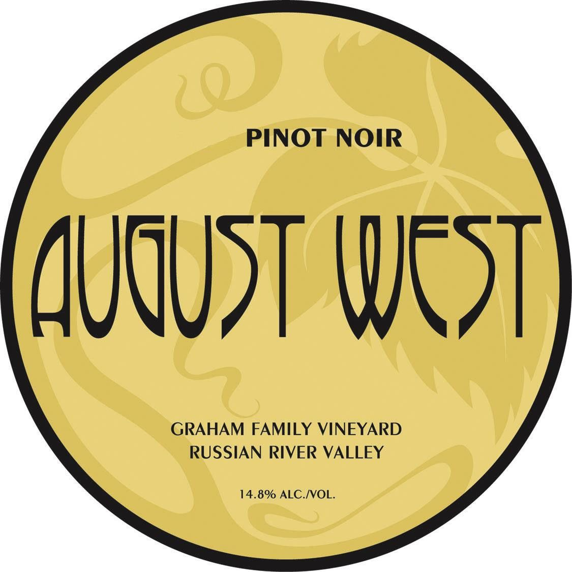 August West Graham Family Vineyard Pinot Noir 2012 Front Label