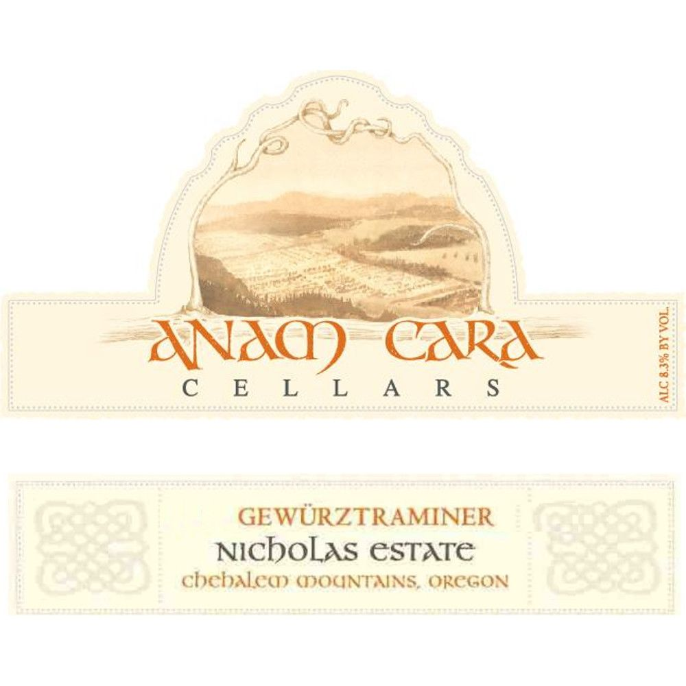Anam Cara Late Harvest Gewurztraminer (375ML half-bottle) 2013 Front Label