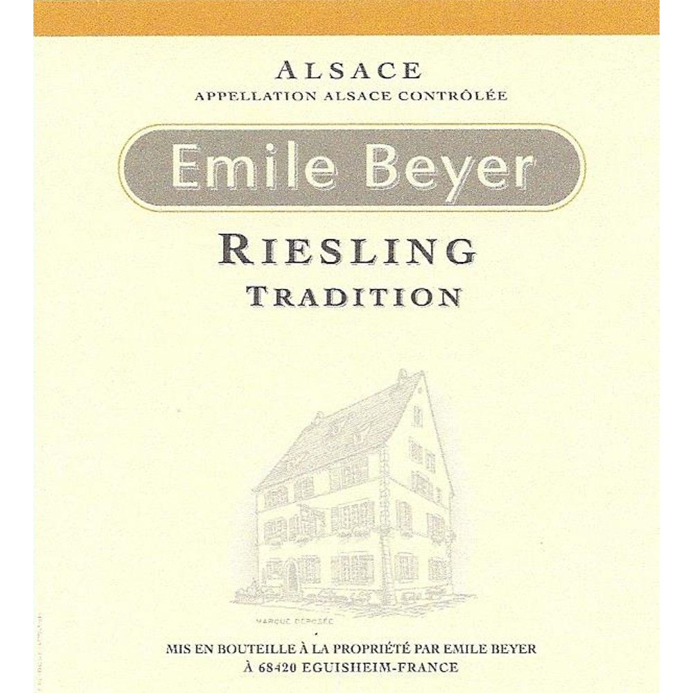 Domaine Emile Beyer Riesling Tradition 2015 Front Label
