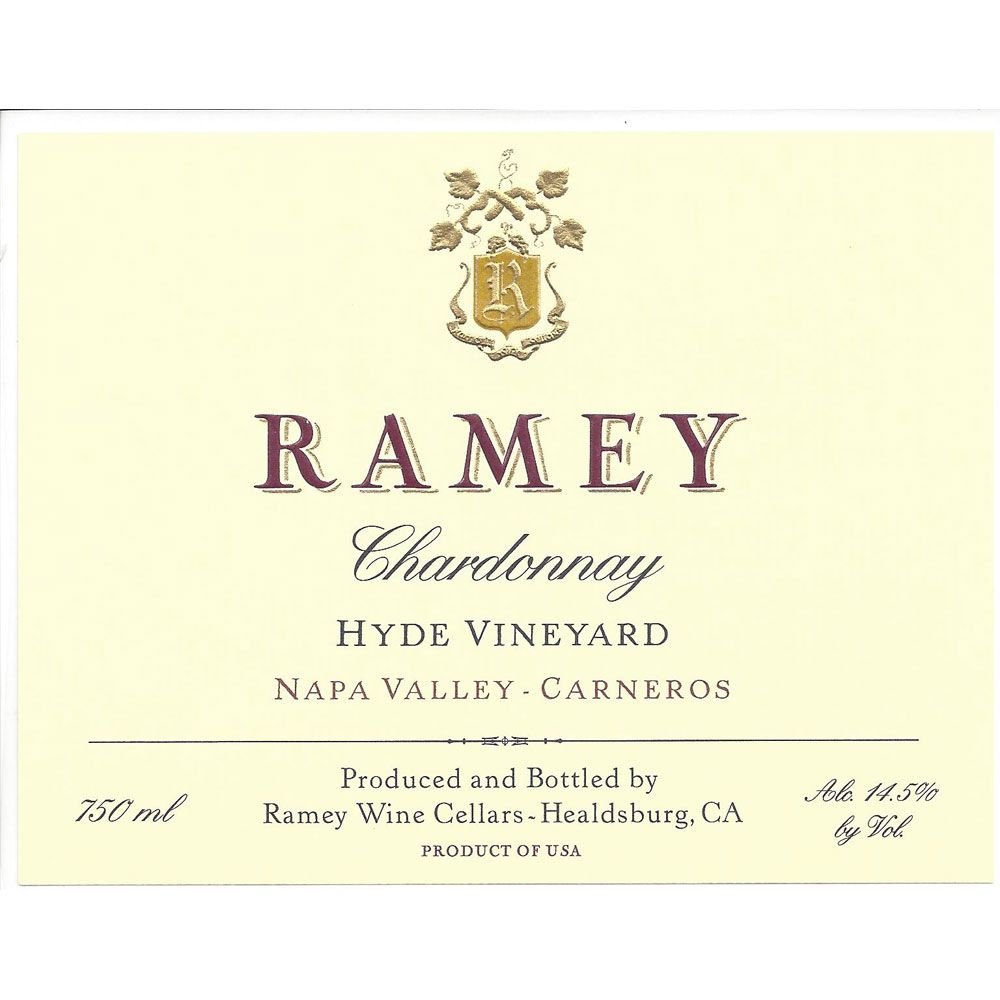 Ramey Hyde Vineyard Chardonnay 2014 Front Label