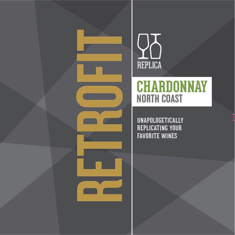 Replica Retrofit Chardonnay 2015 Front Label