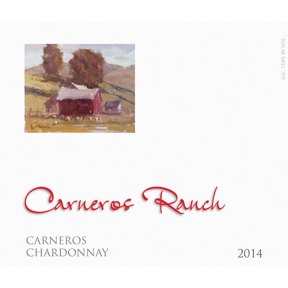 Carneros Ranch Chardonnay 2014 Front Label