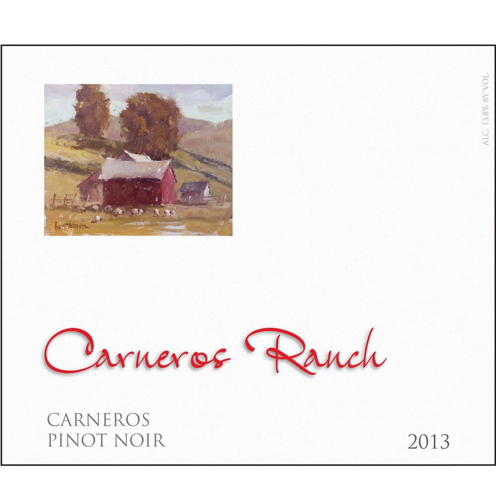 Carneros Ranch Pinot Noir 2013 Front Label