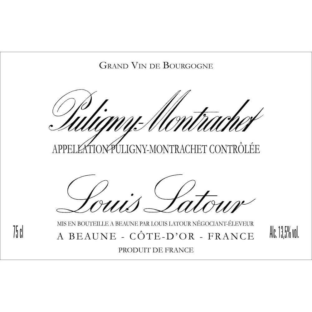 Louis Latour Puligny-Montrachet (375ML half-bottle) 2014 Front Label