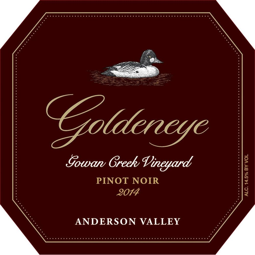 Goldeneye Gowan Creek Vineyard Pinot Noir 2014 Front Label