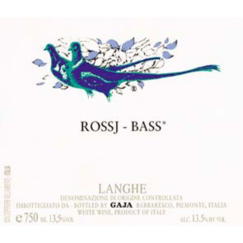 Gaja Rossj-Bass Chardonnay (375ML half-bottle) 2015 Front Label