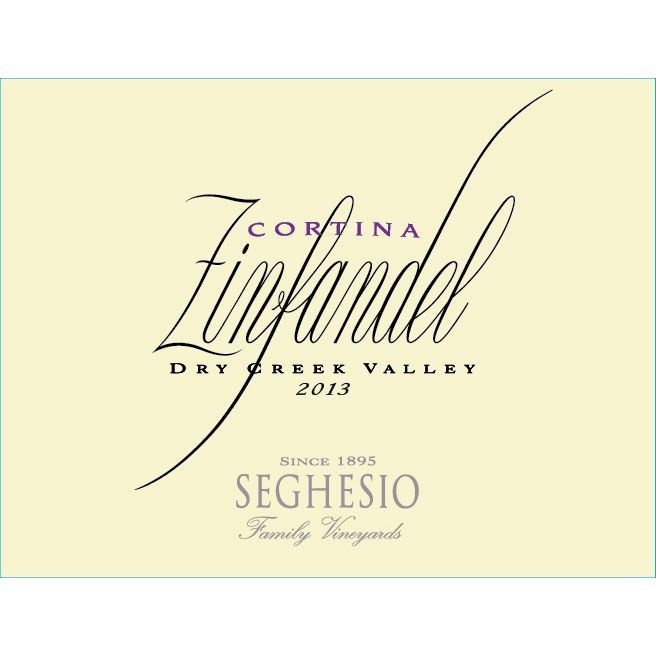 Seghesio Cortina Zinfandel 2014 Front Label