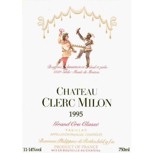 Chateau Clerc Milon  1995 Front Label