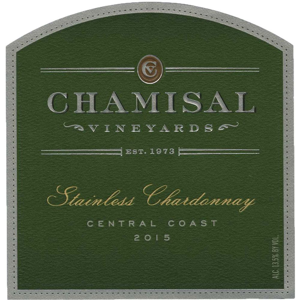 Chamisal Vineyards Stainless Chardonnay 2015 Front Label