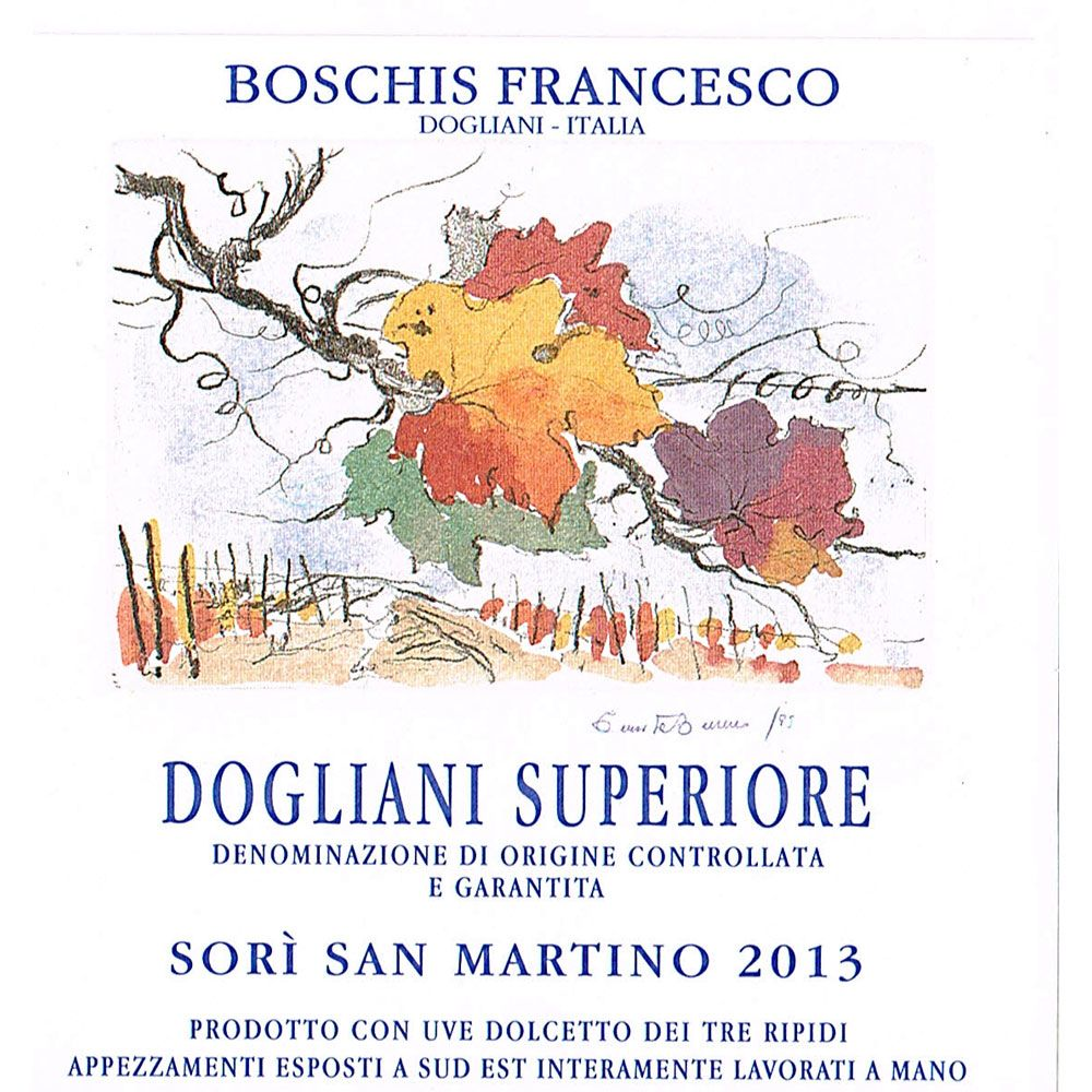Francesco Boschis Sori San Martino Dolcetto di Dogliani 2013 Front Label