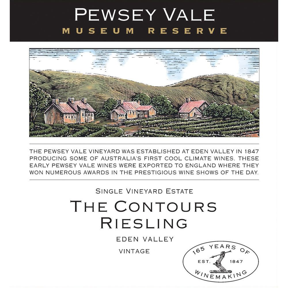 Pewsey Vale Museum Reserve The Contours Riesling 2011 Front Label