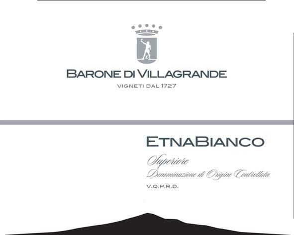Baron Villagrande Etna Bianco Superiore 2008 Front Label