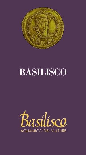 Basilisco Aglianico del Vulture 2005 Front Label