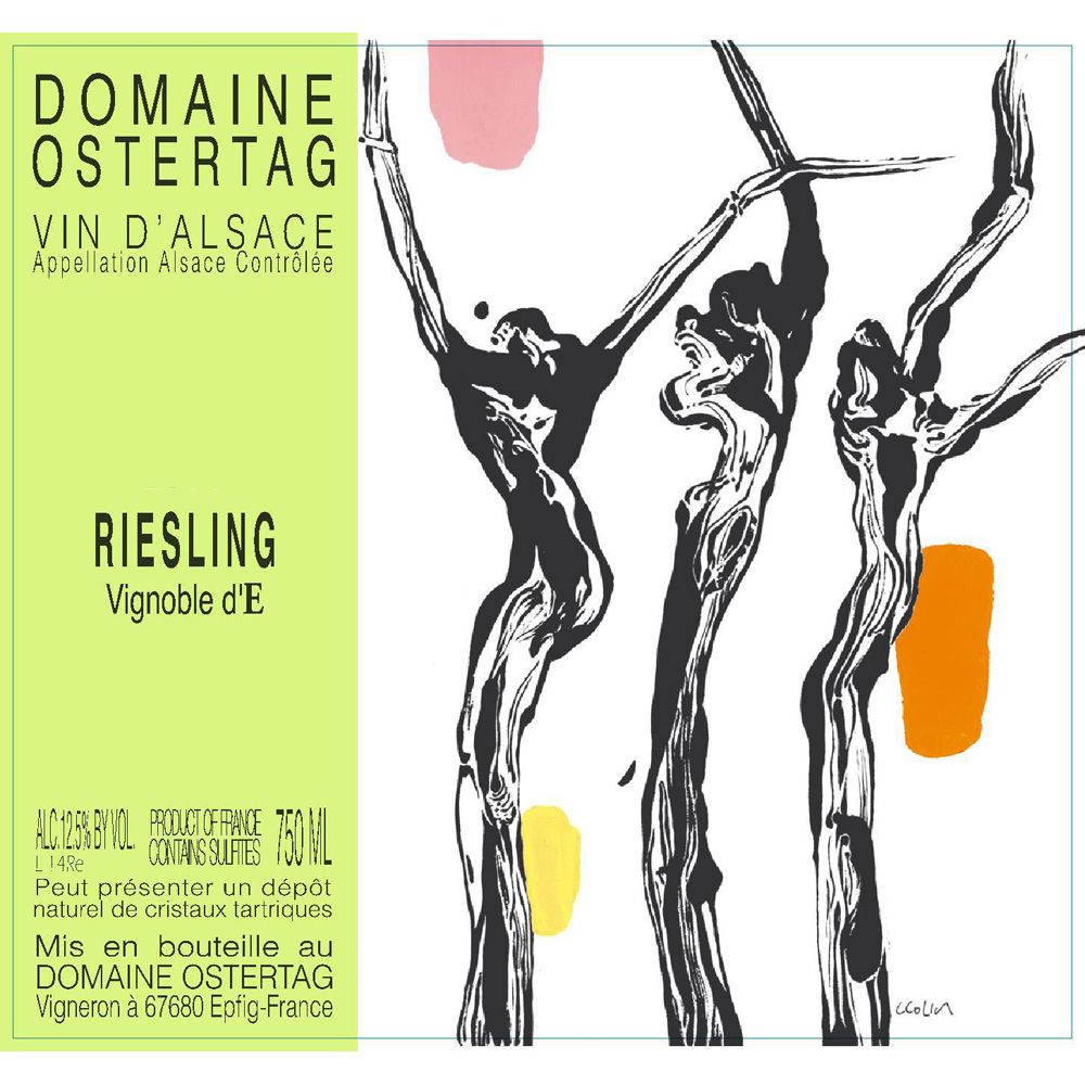 Ostertag Vignoble d'E Riesling 2015 Front Label