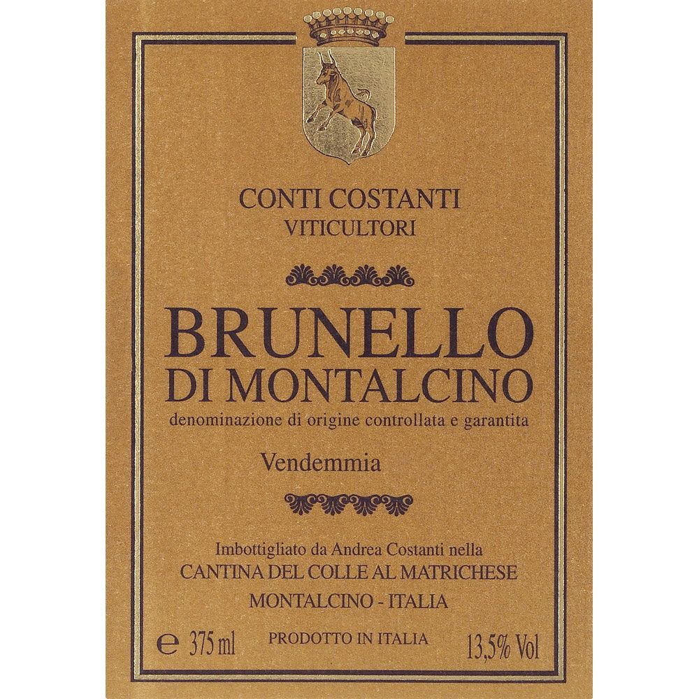 Conti Costanti Brunello di Montalcino (375ML half-bottle) 2011 Front Label