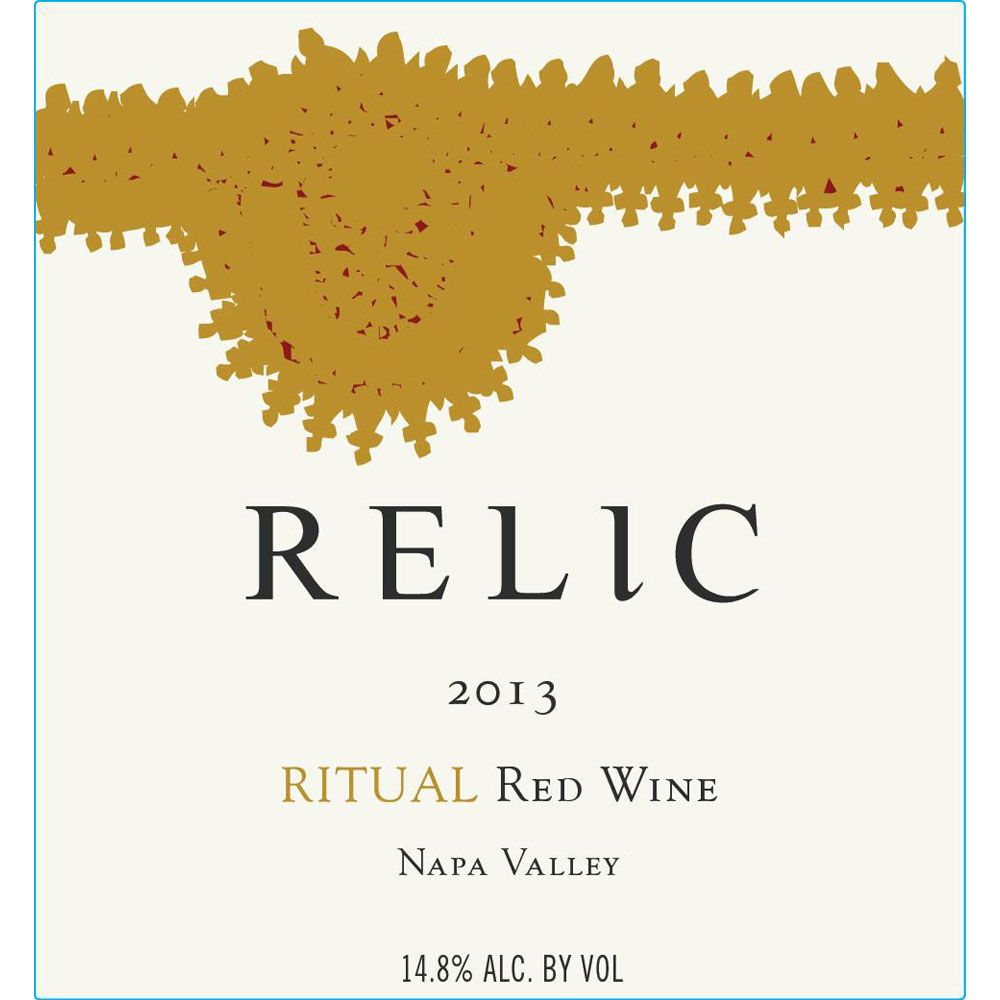 Relic Wine Cellars Ritual 2013 Front Label