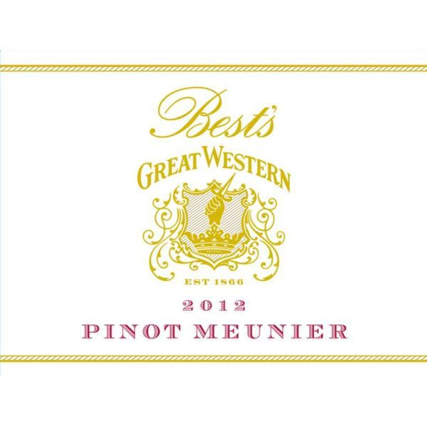 Best's Great Western Pinot Meunier 2012 Front Label
