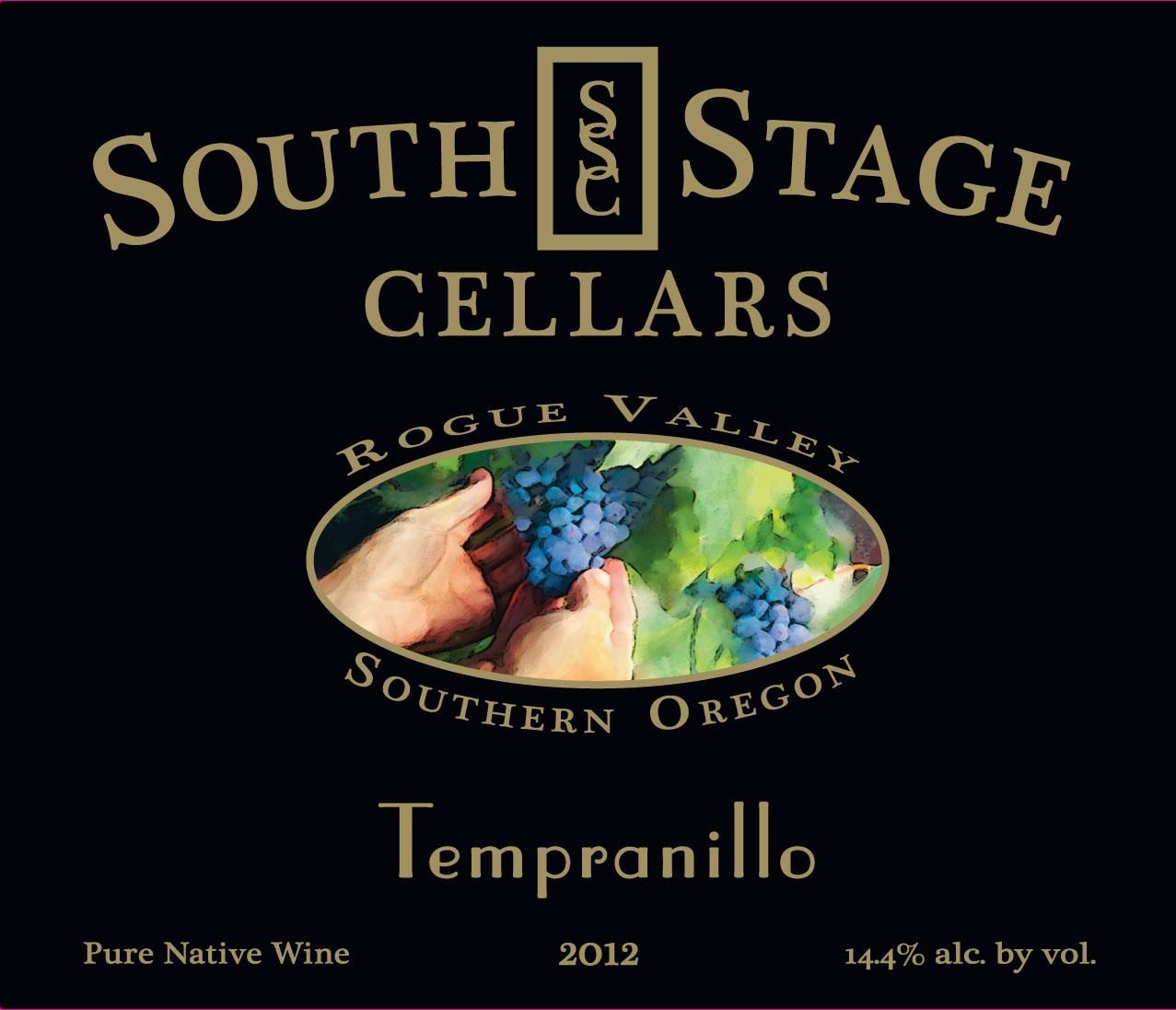 South Stage Cellars Tempranillo 2012 Front Label