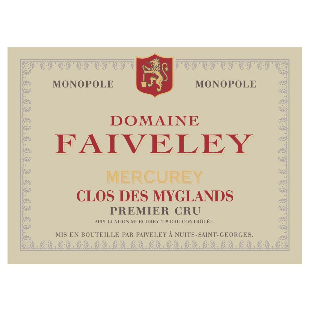 Domaine Faiveley Mercurey Clos des Myglands Premier Cru (375ML half-bottle) 2014 Front Label