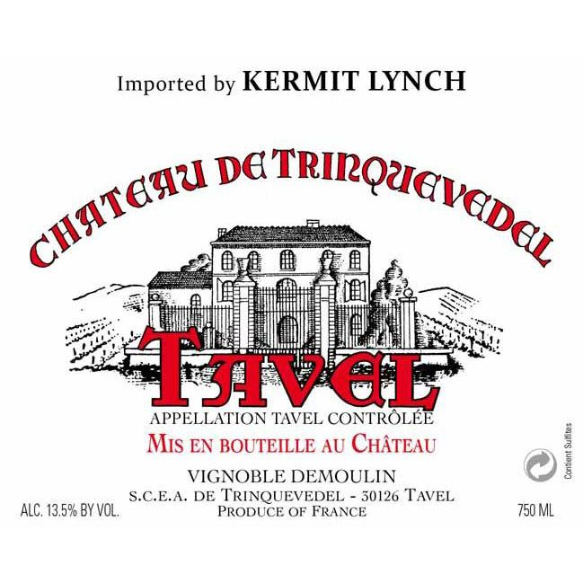 Chateau Trinquevedel Tavel Rose 2016 Front Label
