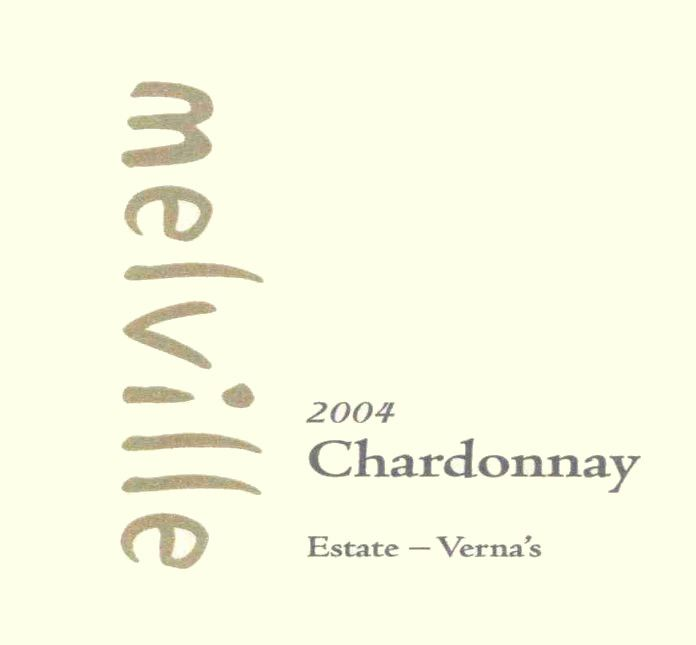 Melville Verna's Chardonnay 2004 Front Label